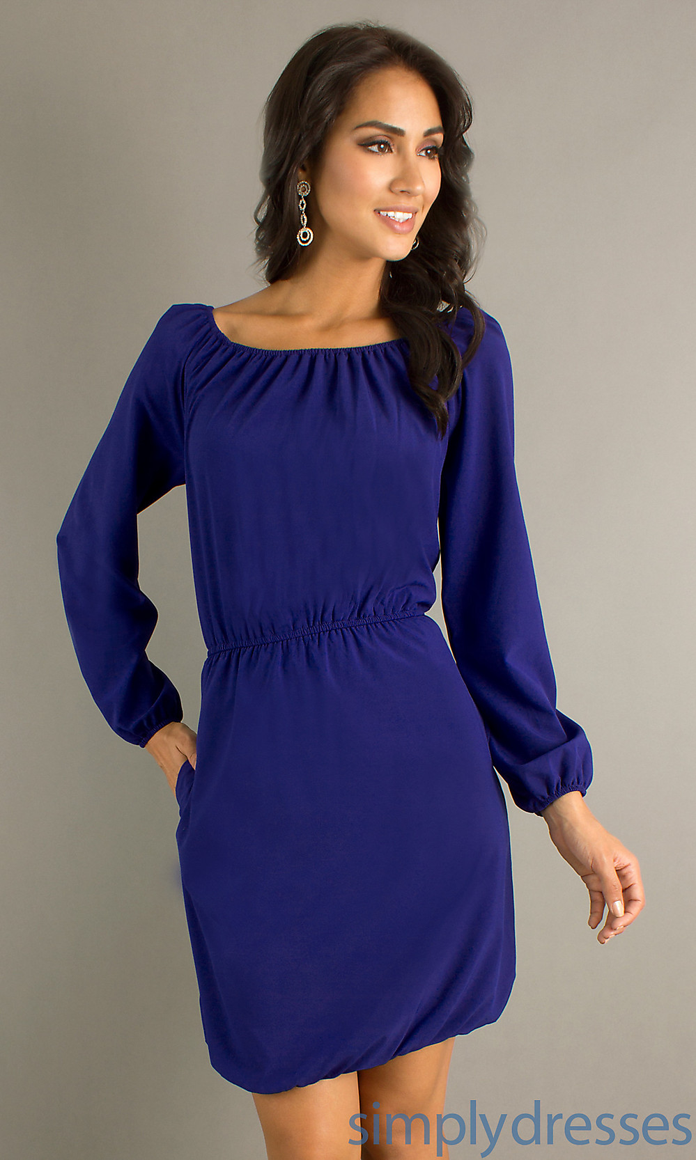 long sleeve dress casual photo - 1