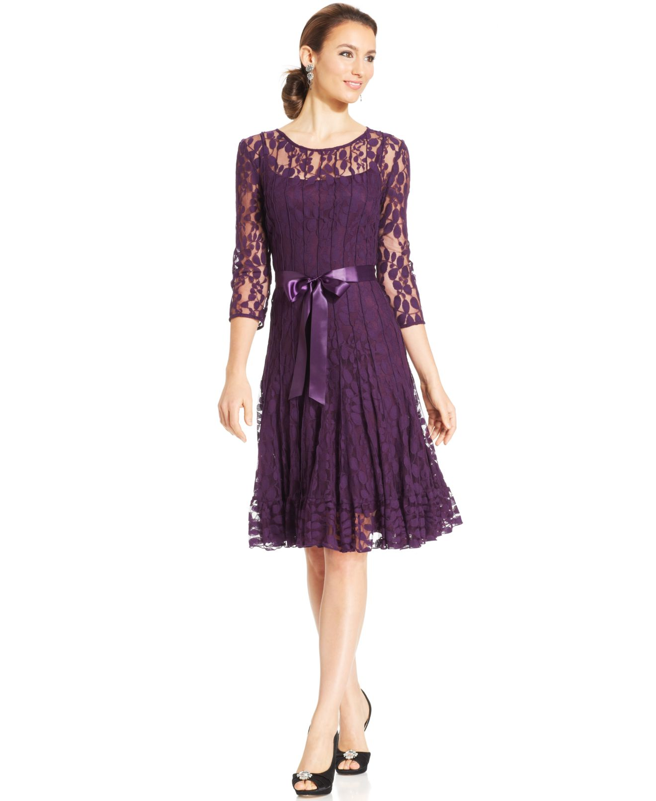 macys dresses with sleeves photo - 1