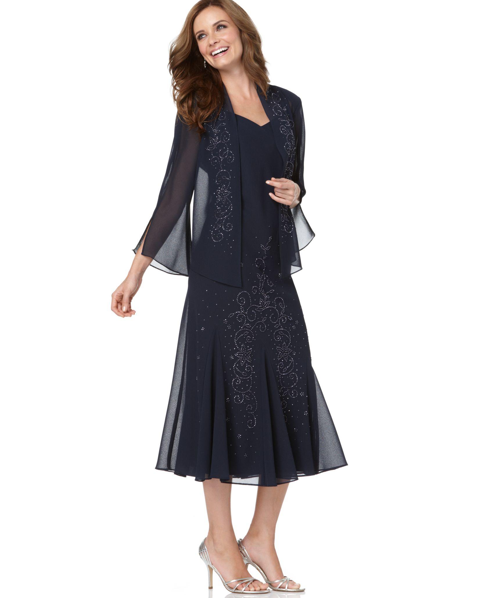 macys grey dresses photo - 1