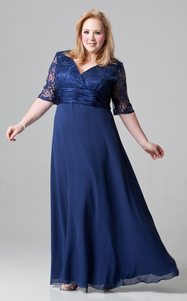 macys mother of the bride plus size dresses photo - 1