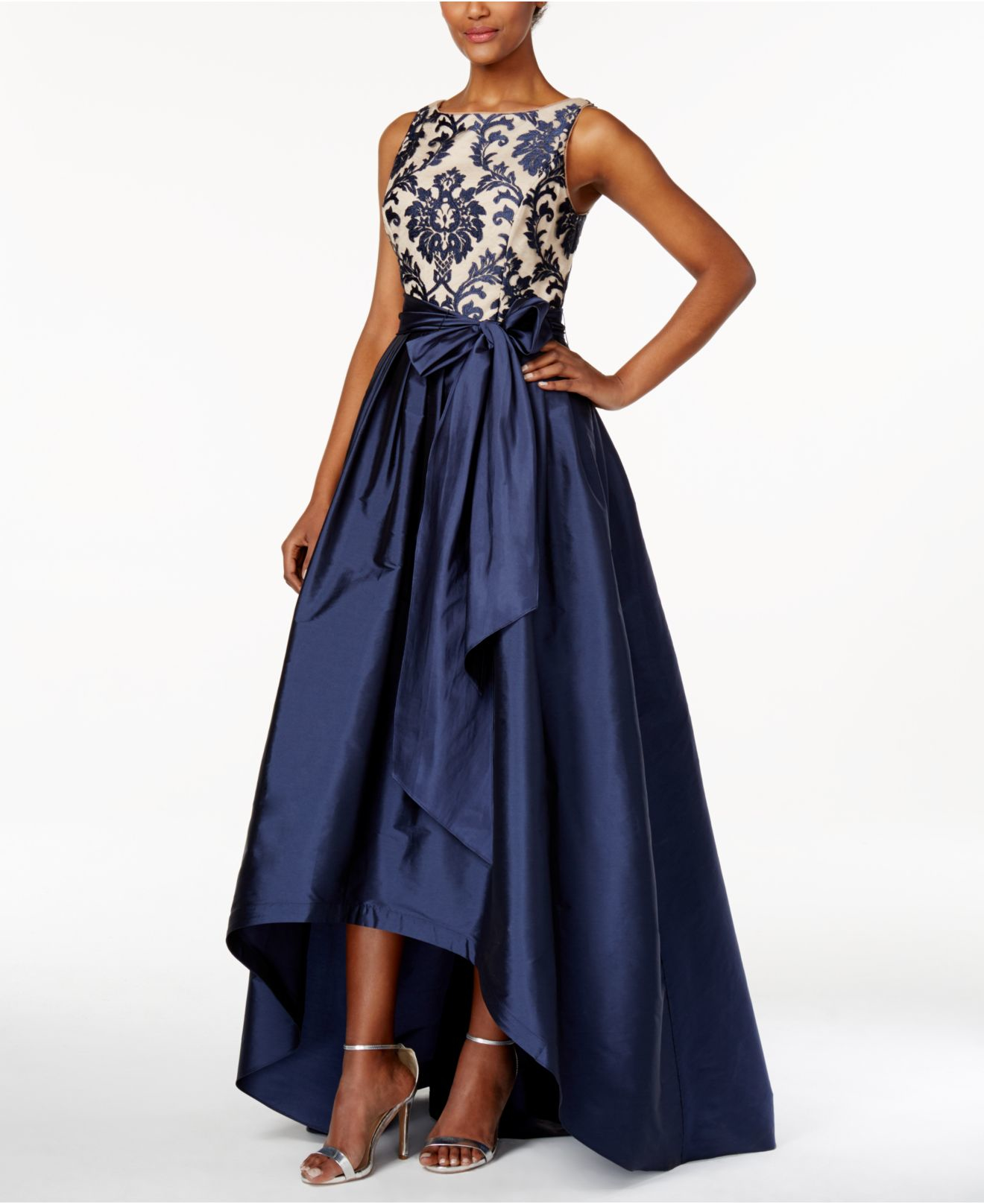 macys navy blue dresses photo - 1