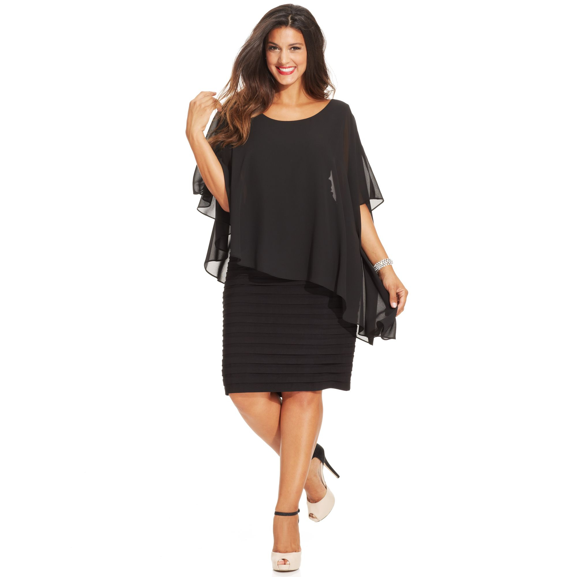 macys party dresses plus size photo - 1