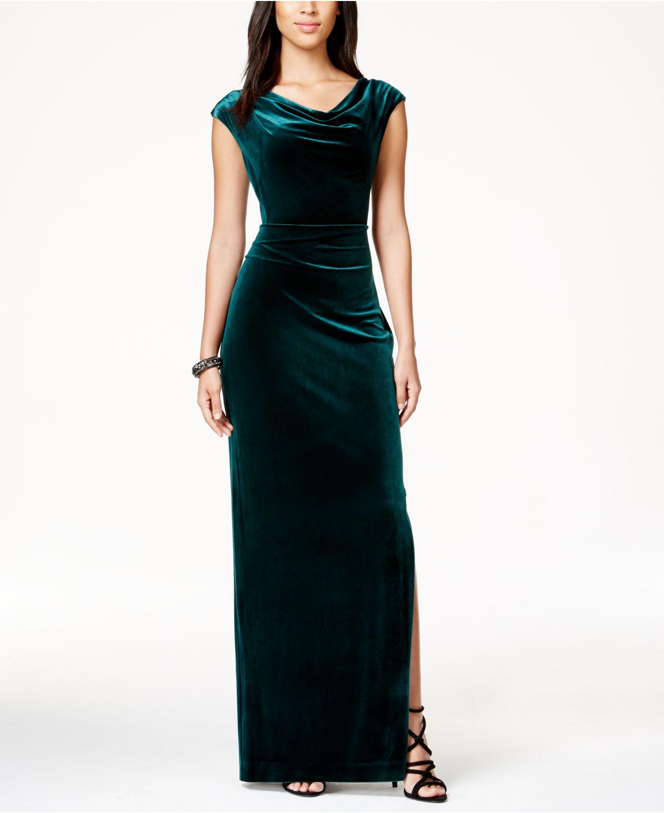 macys velvet dresses photo - 1