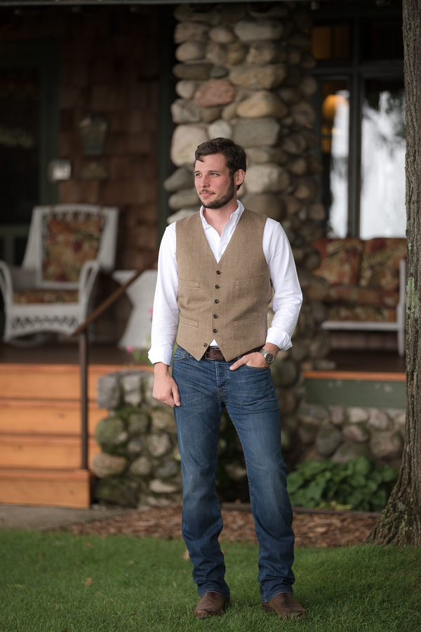 mens casual dress vest photo - 1