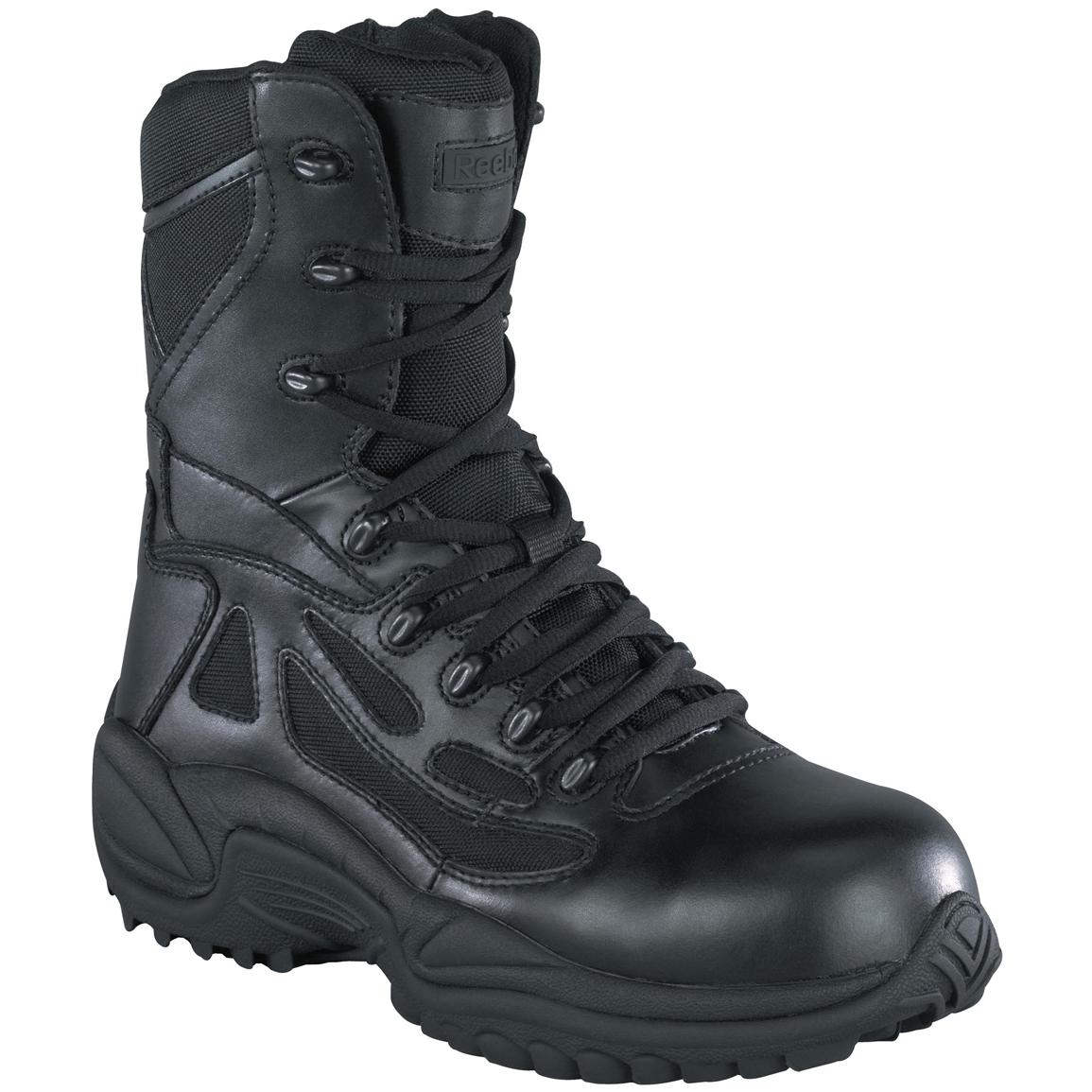 mens combat style boots photo - 1