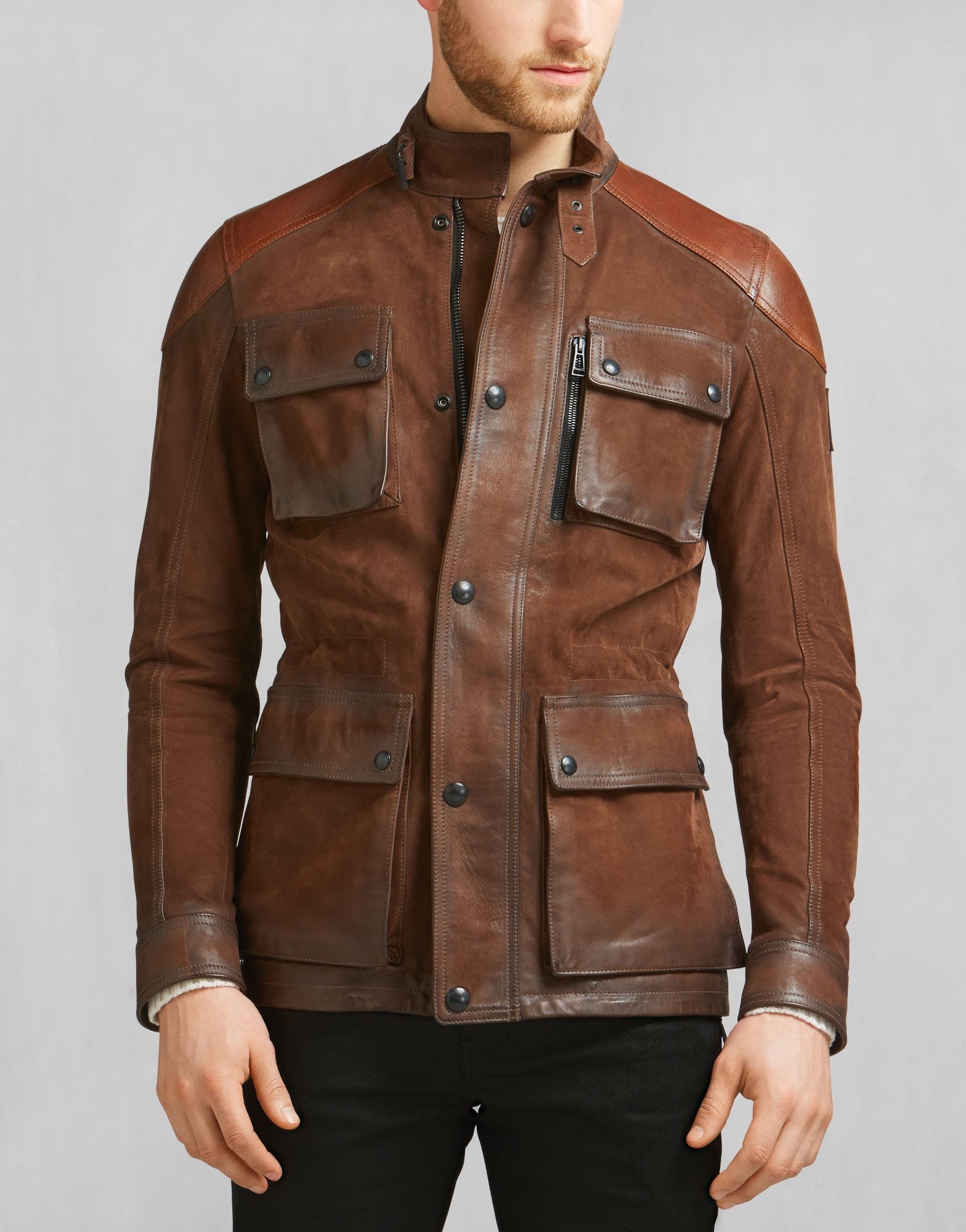 mens leather jackets style photo - 1