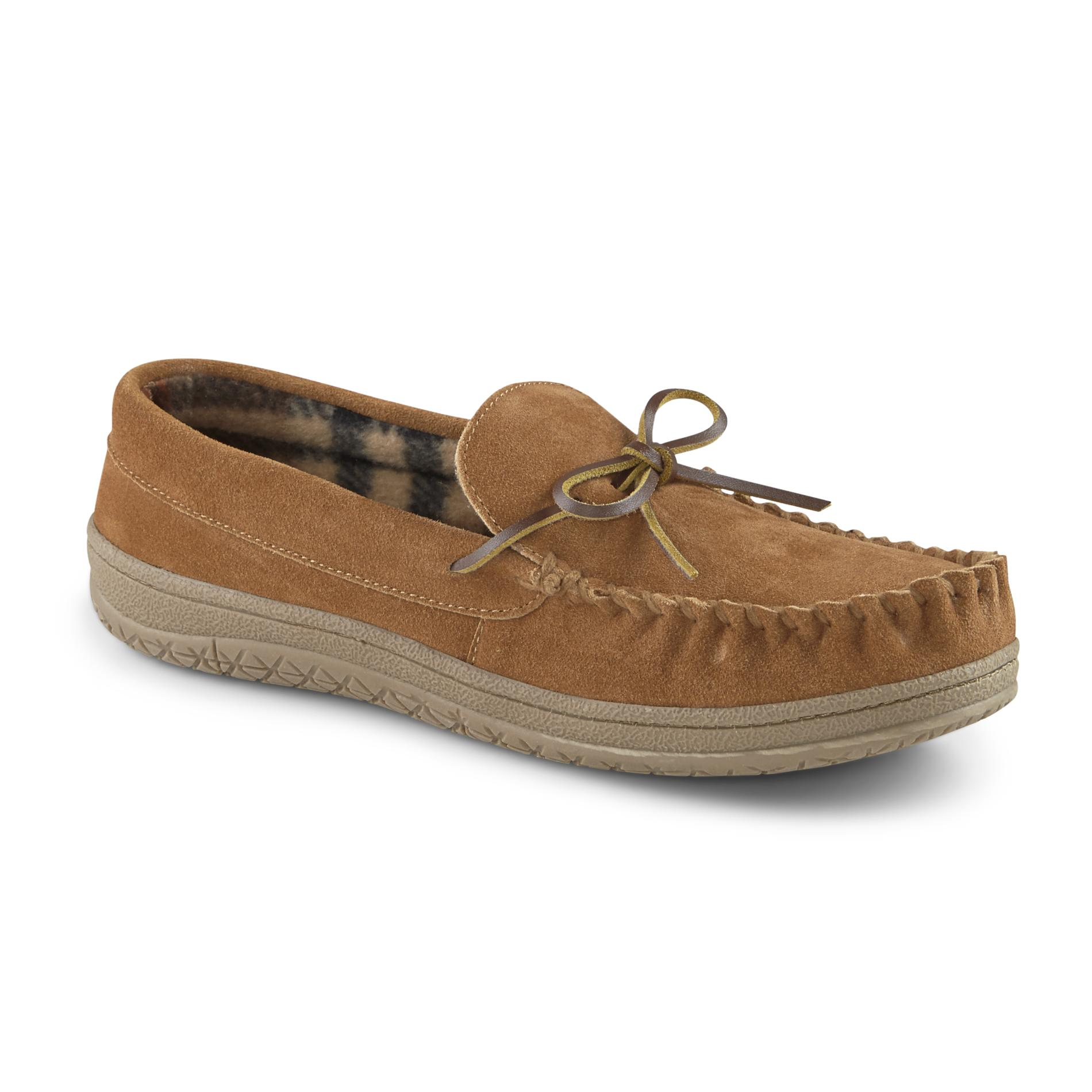 mens moccasin style slippers photo - 1