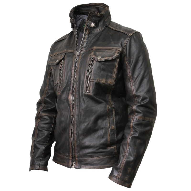 mens motorcycle style jackets photo - 1