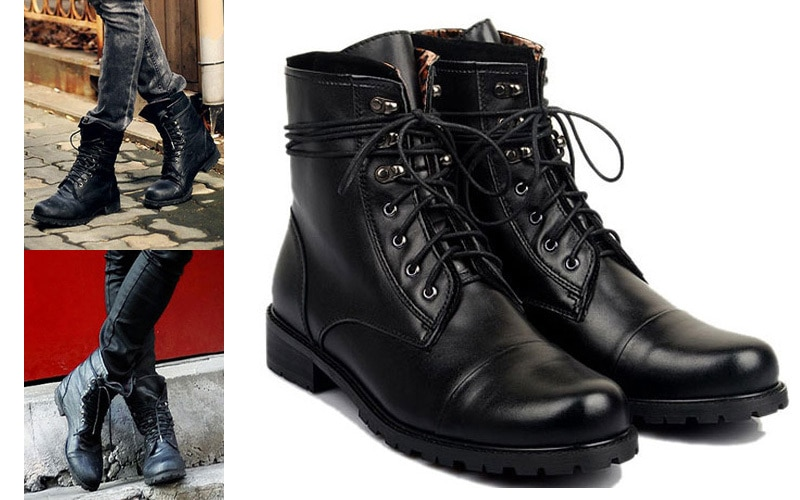 mens rocker style boots photo - 1