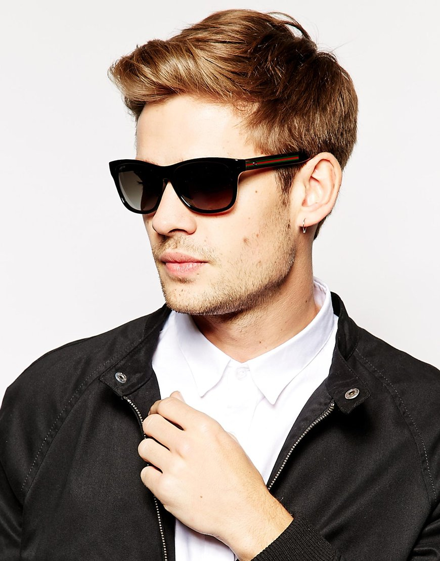 mens wayfarer style sunglasses photo - 1