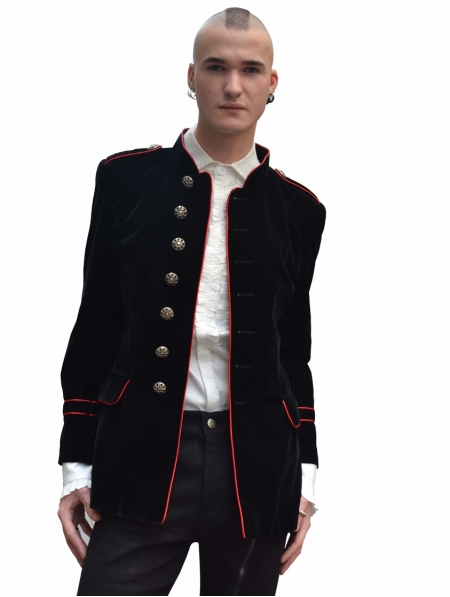 military style mens jacket photo - 1