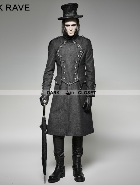 military style trench coat mens photo - 1