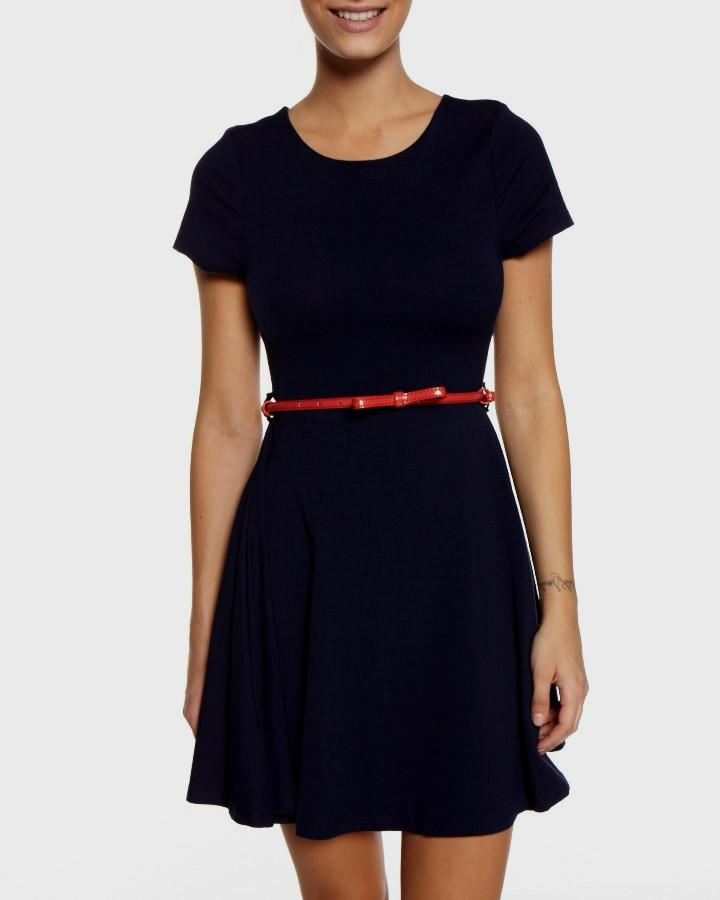 navy casual dress photo - 1