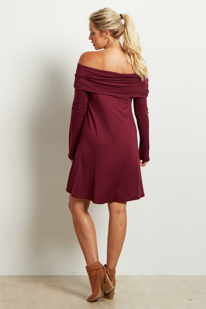 off the shoulder dress casual photo - 1