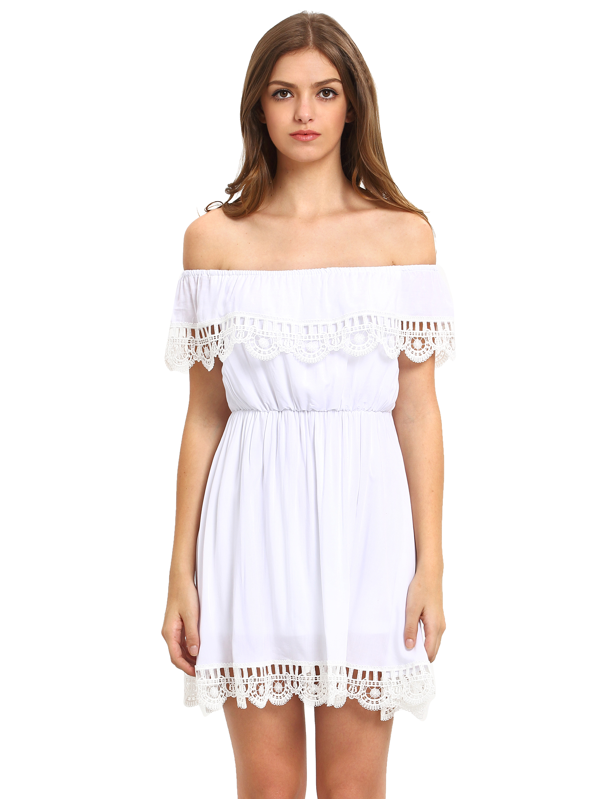 off white casual dress photo - 1