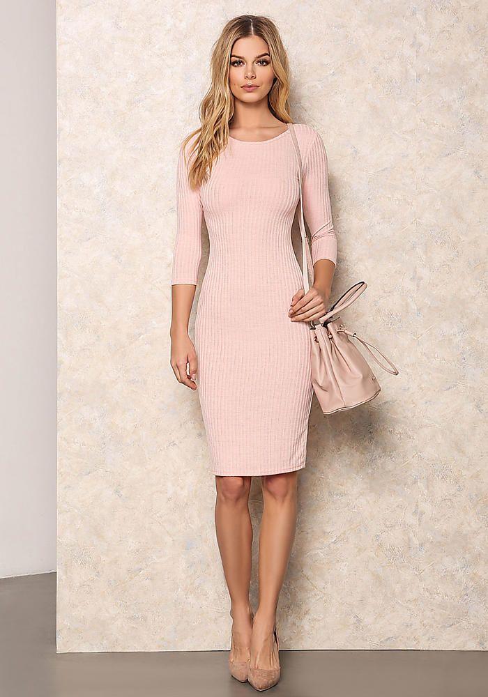 pink casual wedding dress photo - 1