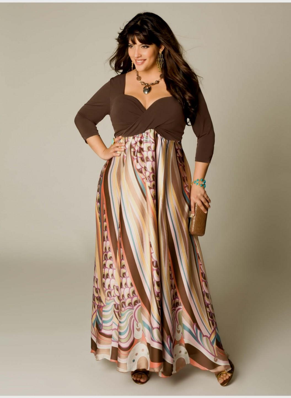 plus size casual maxi dress photo - 1