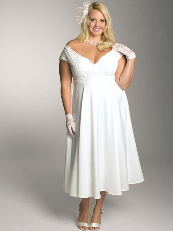 plus size casual wedding dress photo - 1