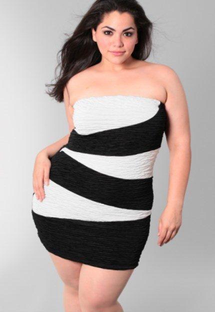 plus size casual white dress photo - 1