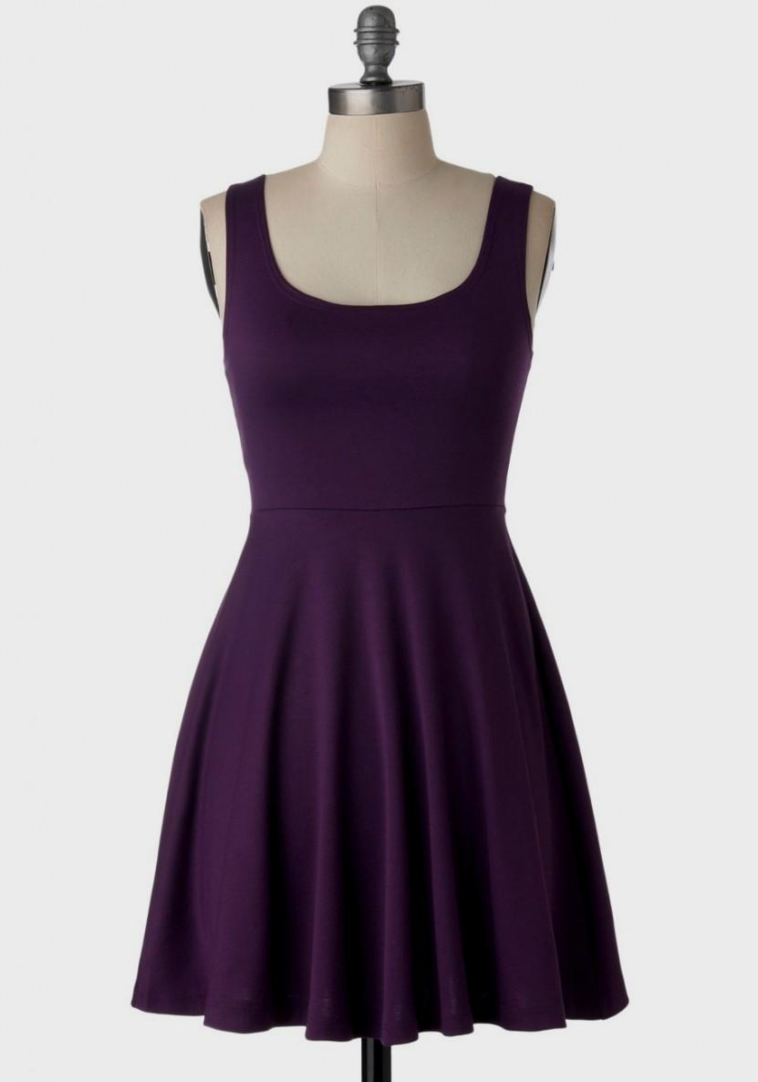 purple casual dress photo - 1