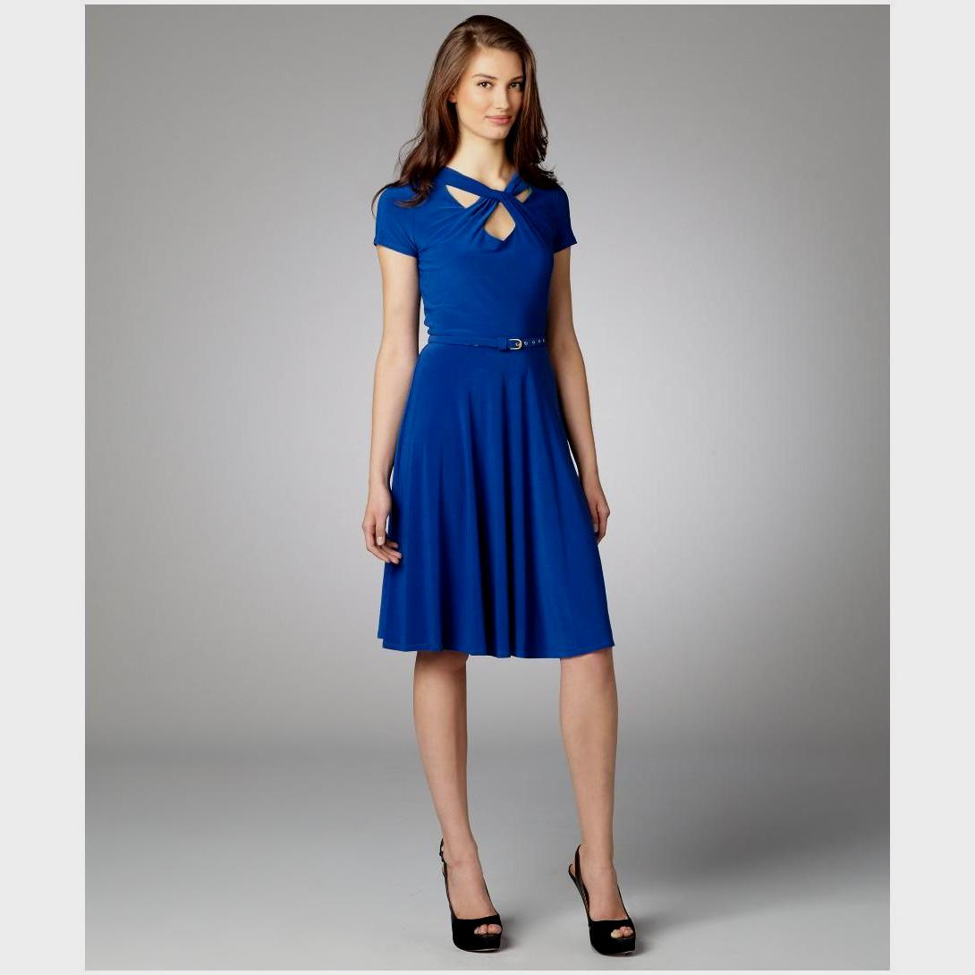 royal blue dress casual photo - 1
