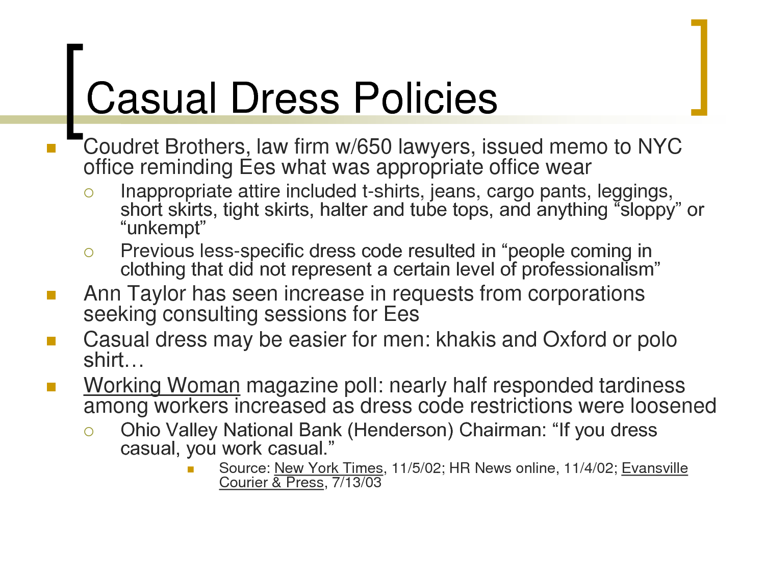 sample casual dress code policy photo - 1