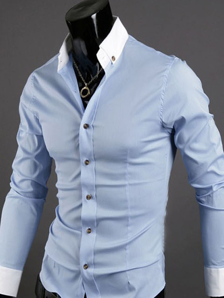 slim fit casual dress shirts photo - 1