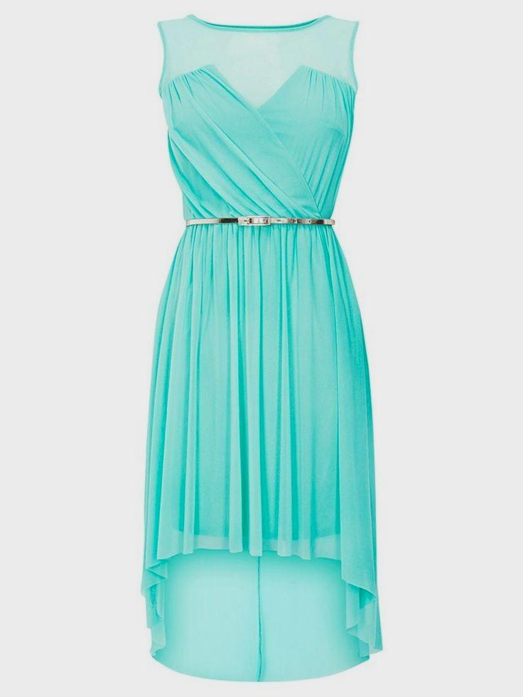 tiffany blue casual dress photo - 1