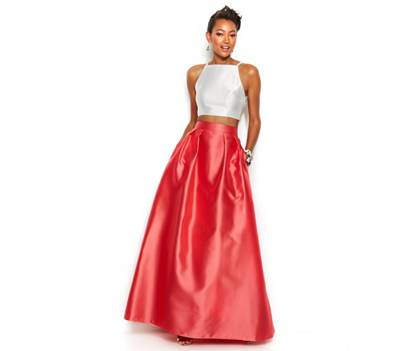 two piece prom dresses macys photo - 1