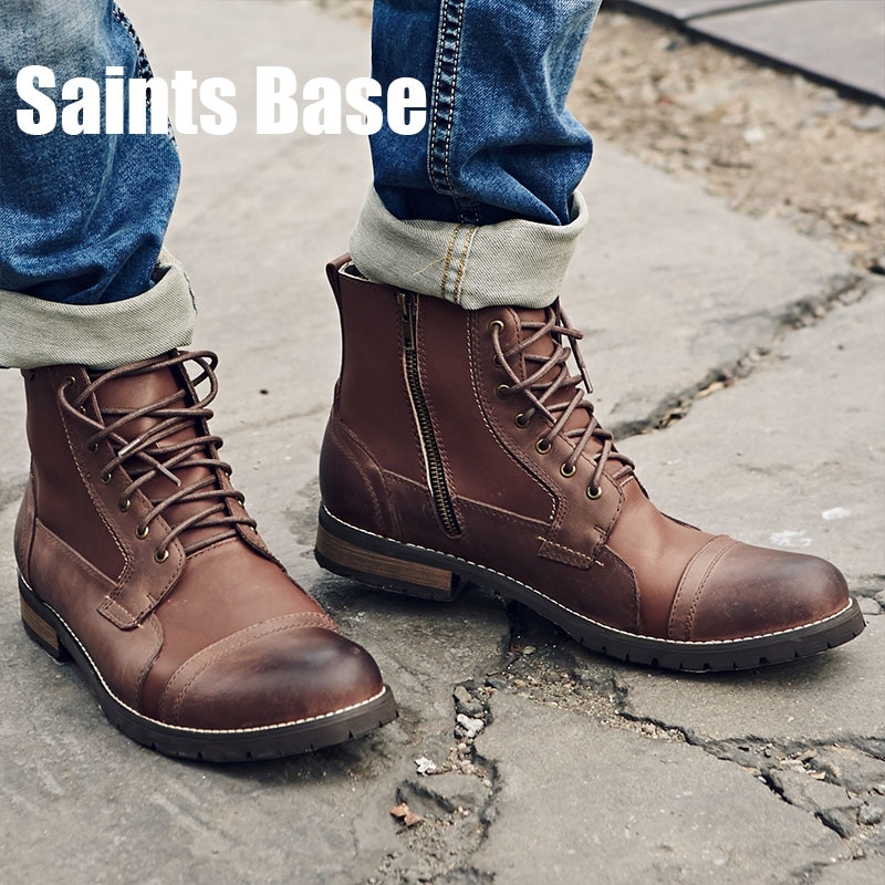 vintage style mens boots photo - 1