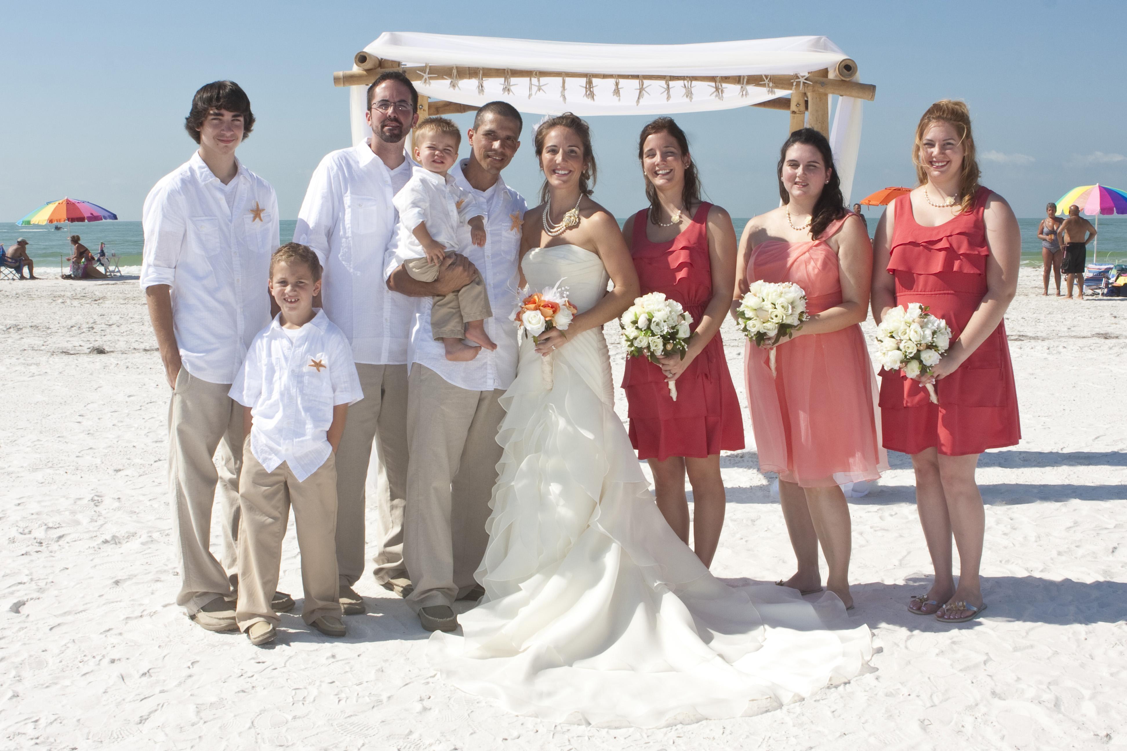 wedding dress beach casual photo - 1