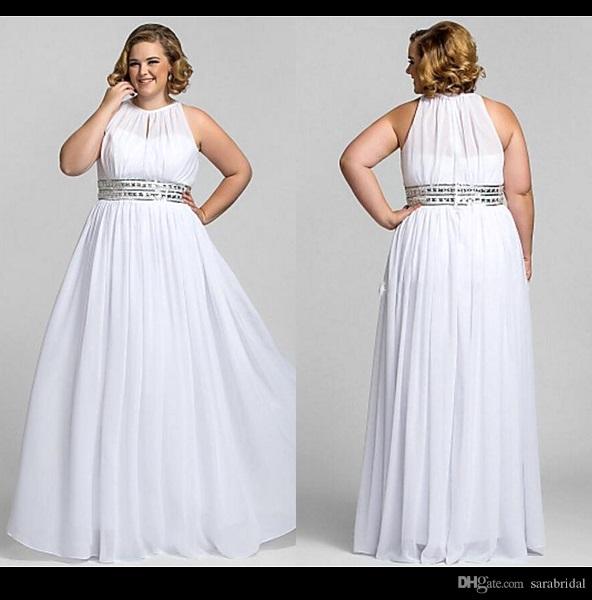 Casual Wedding Dress Plus Size