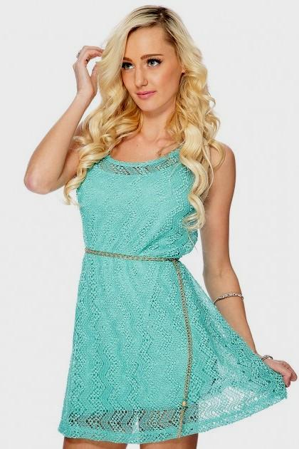 aqua blue casual dress photo - 1