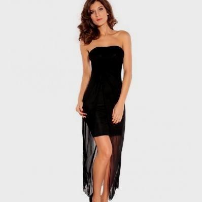 black high low dress casual photo - 1