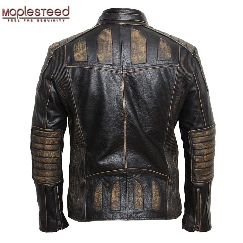 black leather jacket mens style photo - 1