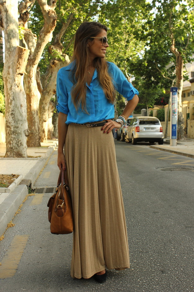 business casual maxi skirt photo - 1