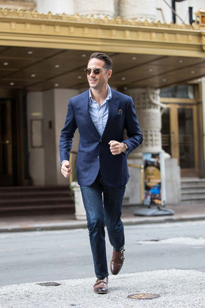 business casual navy pants photo - 1