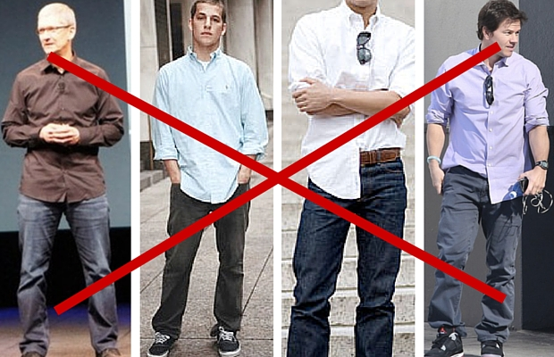 business casual shirt untucked photo - 1