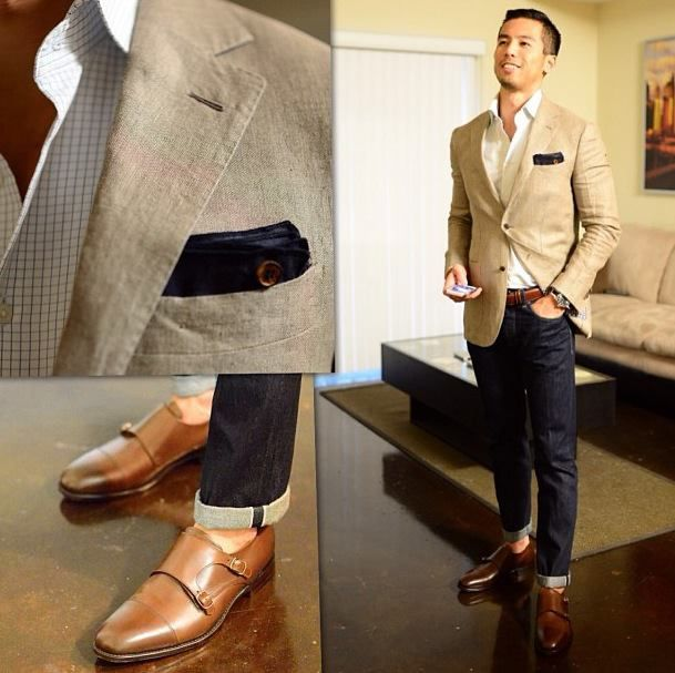 business casual shoes with jeans photo - 1