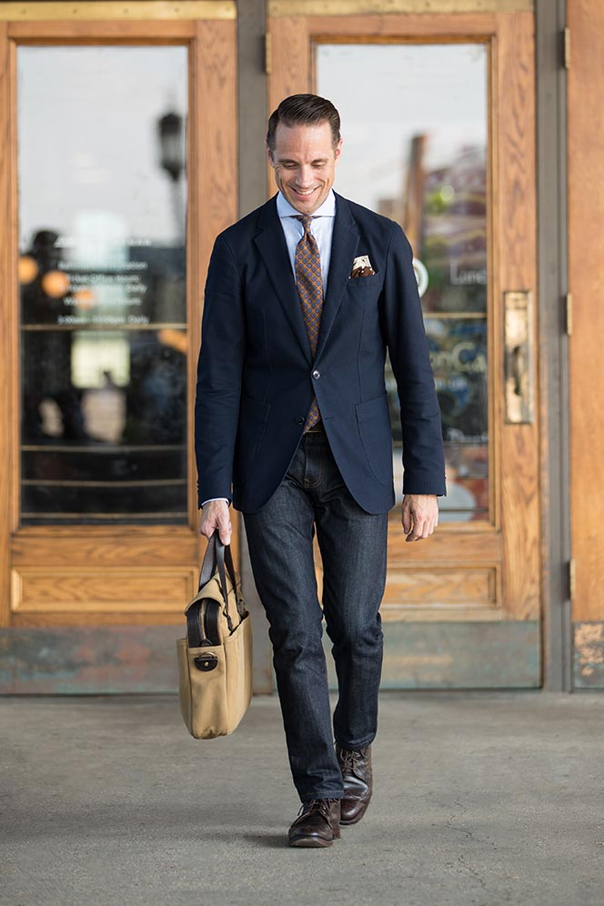 can you wear jeans for business casual attire photo - 1