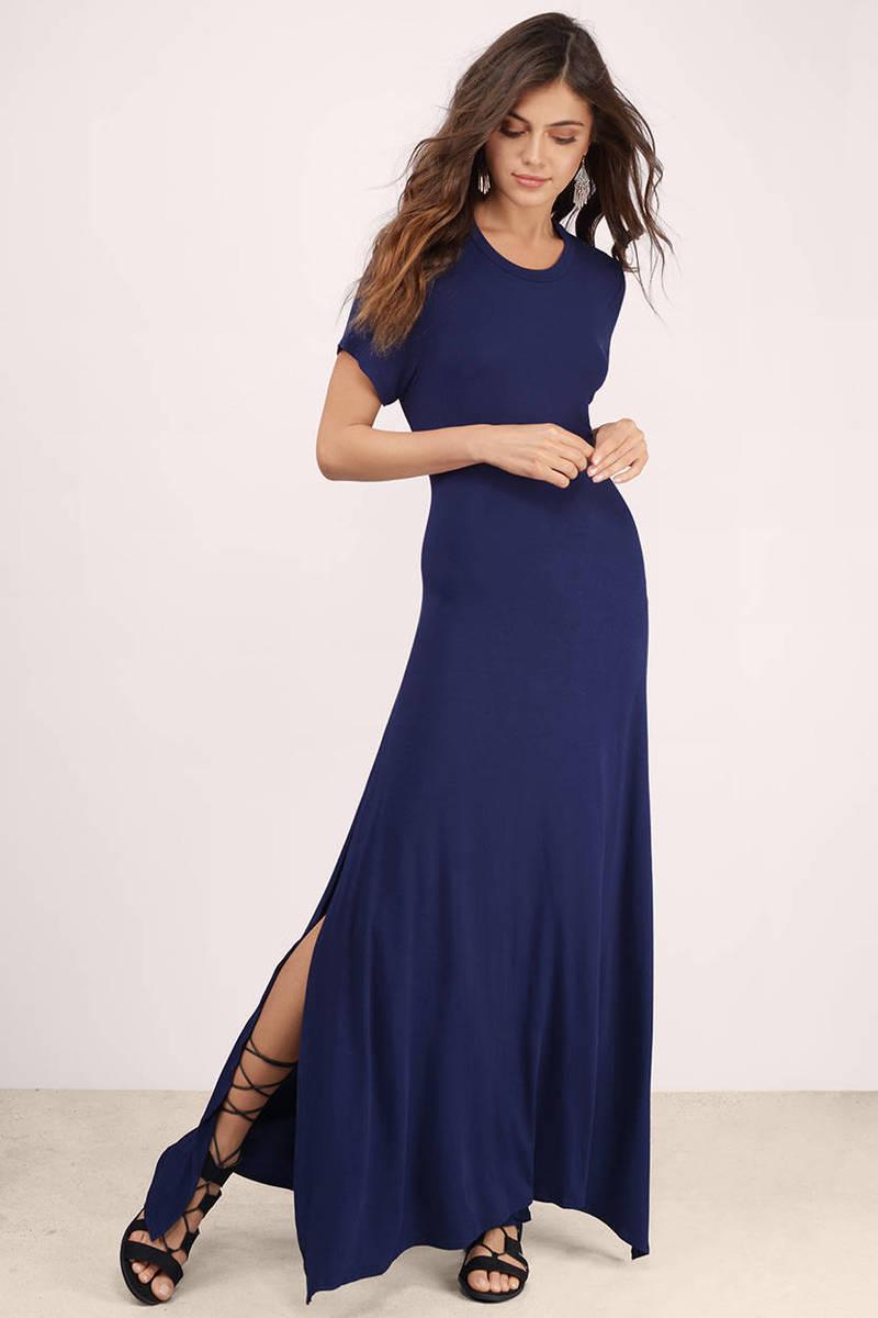 cap sleeve maxi dress casual photo - 1