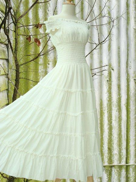 casual cotton maxi dress photo - 1