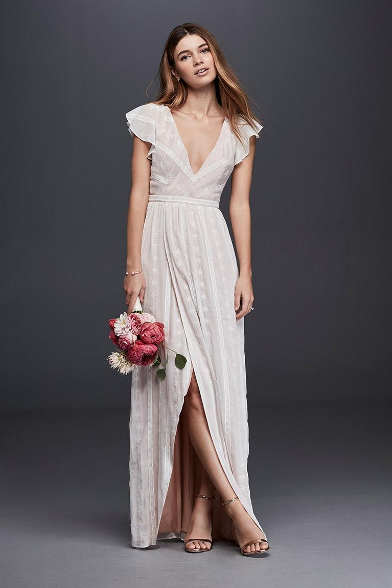 casual courthouse wedding dress photo - 1