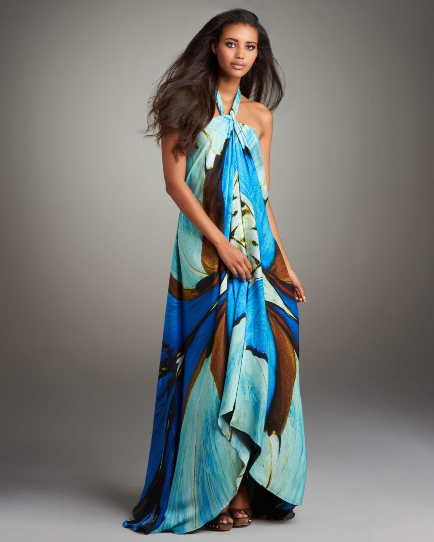 casual halter maxi dress photo - 1