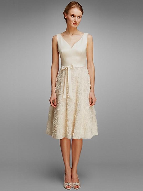 casual ivory dress photo - 1