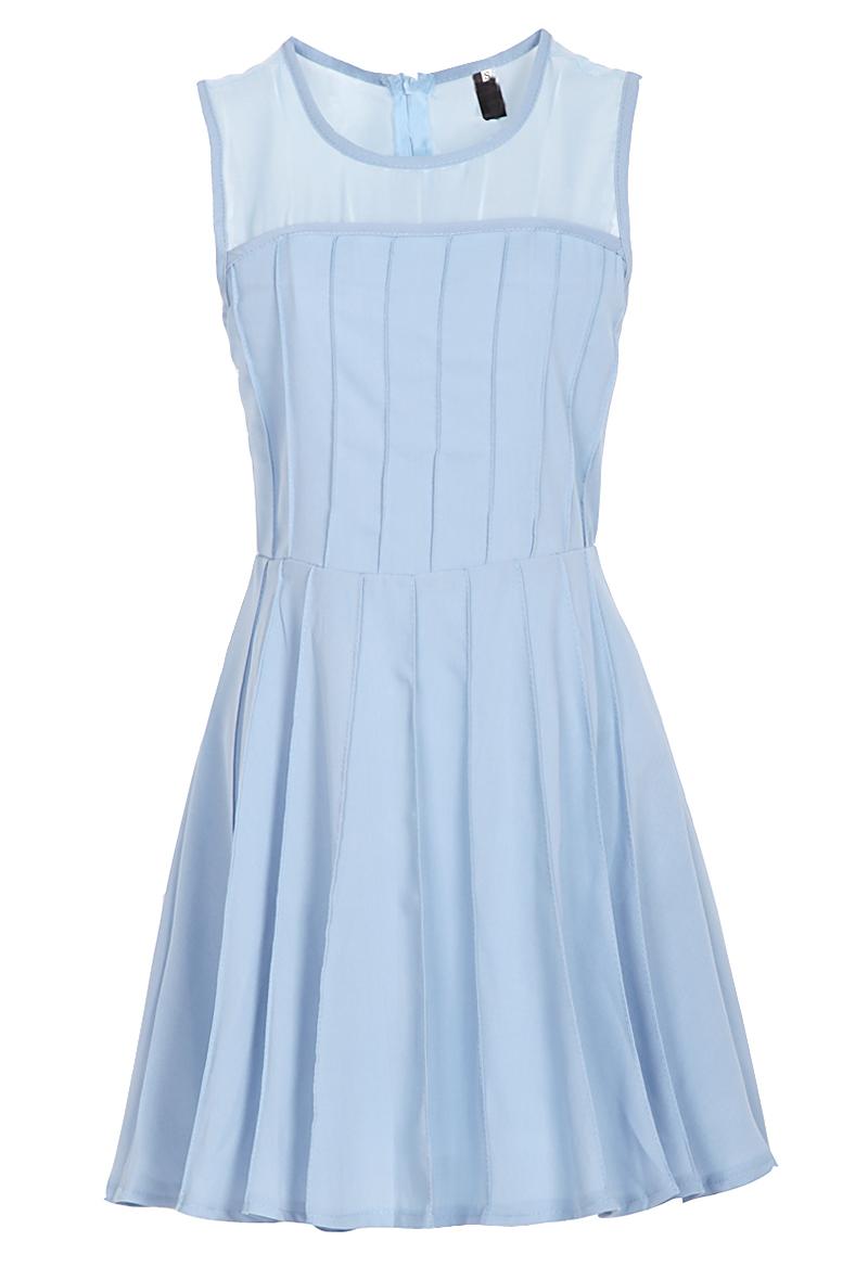 casual light blue dress photo - 1