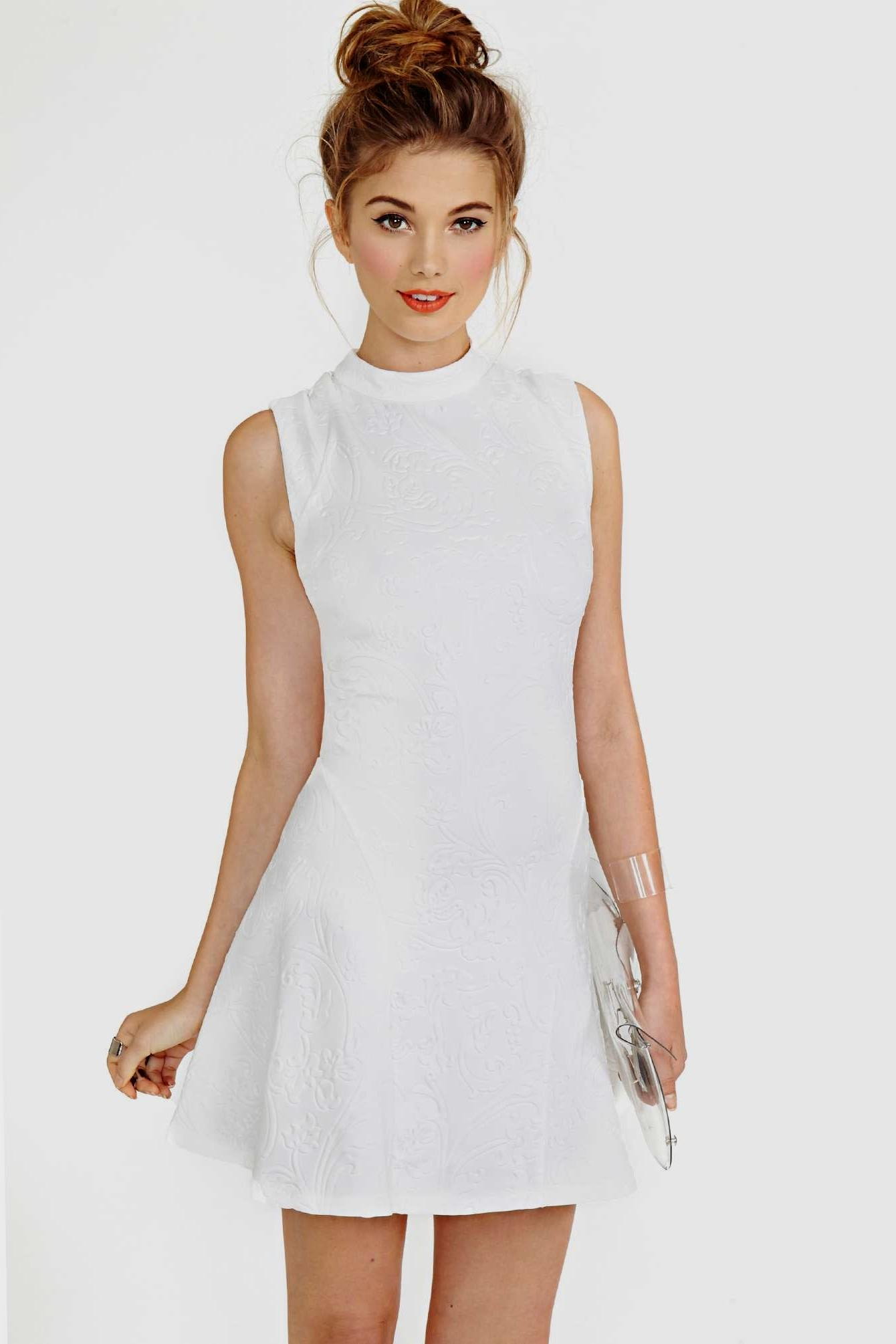 casual little white dress photo - 1