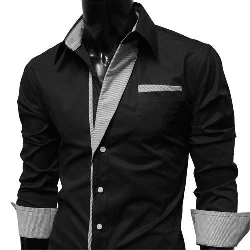 casual long sleeve black dress photo - 1
