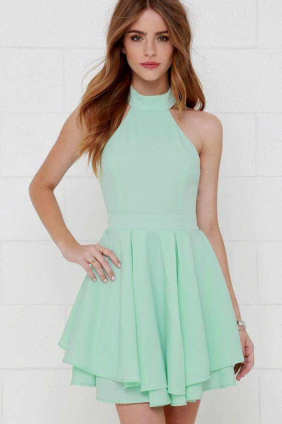 casual mint green dress photo - 1