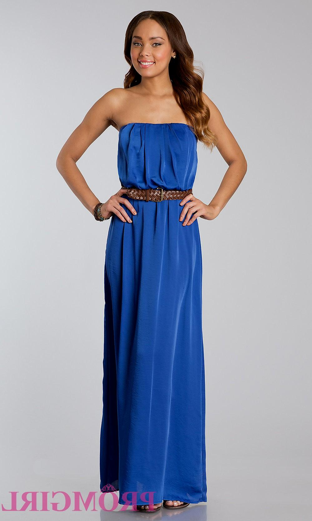 casual navy blue maxi dress photo - 1